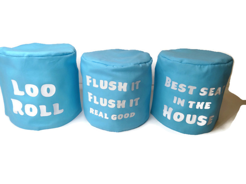 toilet roll holder, toilet roll cover, toilet humour, (loo roll) 2