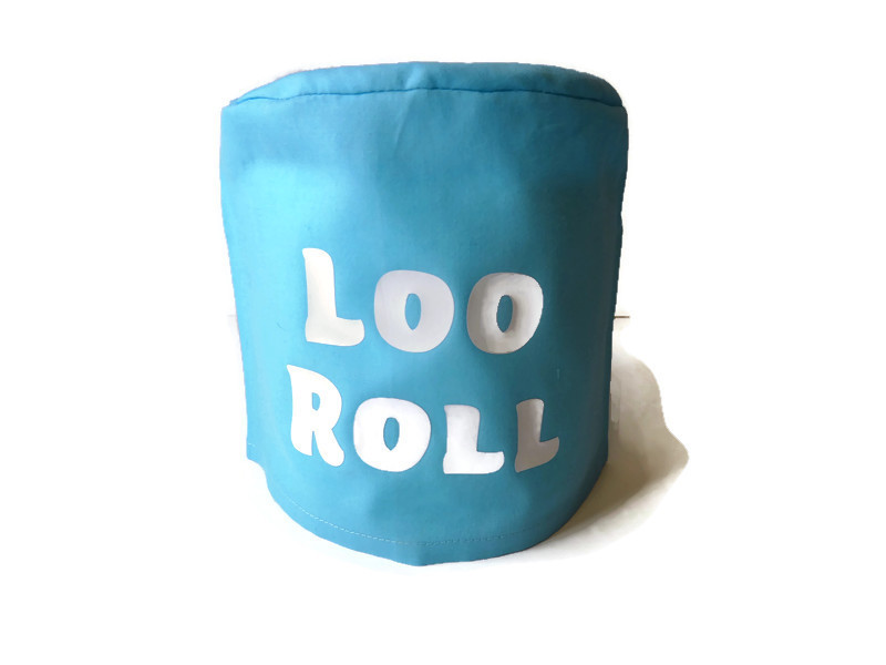 toilet roll holder, toilet roll cover, toilet humour, (loo roll) 1