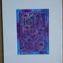 Poppy Seed Heads - textile art