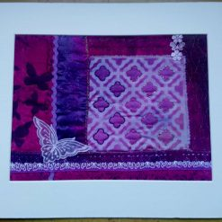 Moroccan Screen - mounted textile art