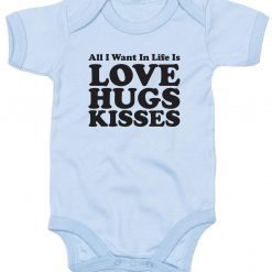 All you need is Love, Hugs and Kisses Babygrow 4