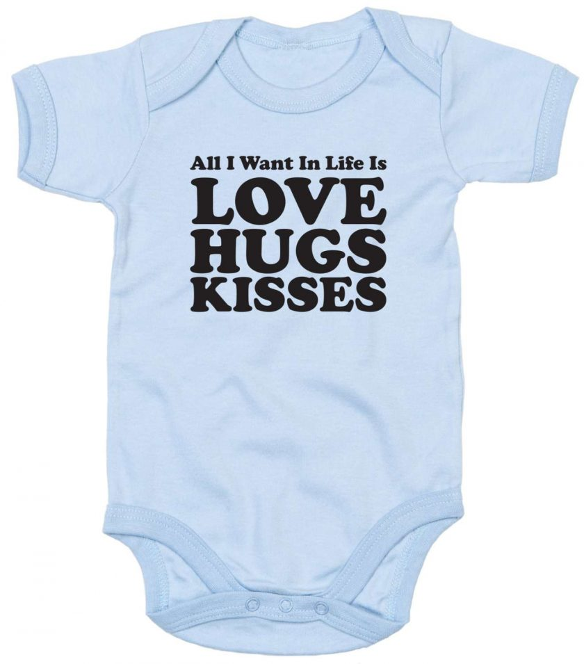 All you need is Love, Hugs and Kisses Babygrow 2