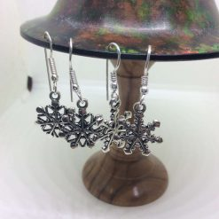 Christmas snowflake earrings