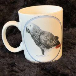 African grey parrot mug 4