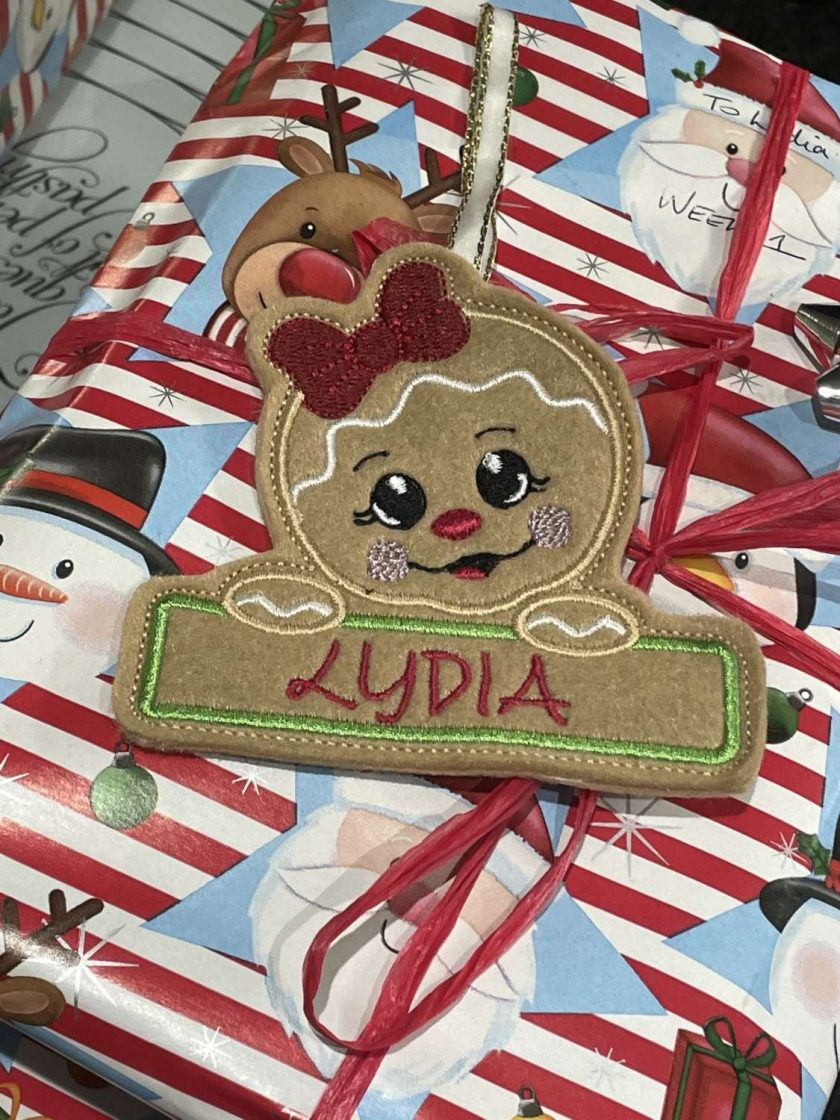 Embroidered Christmas Tree Hangers or Tags 2