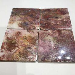 Coasters mauve marble