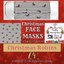 'PPE' Style FACE MASKS 🎄 Christmas CHARITY Collection 🎄 in support of The Alzheimer's Society 🎄 Washable & Reusable (Eco-Friendly) 🎄 Choice of Designs & Sizes 35