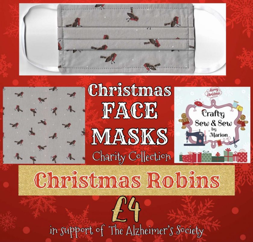 'PPE' Style FACE MASKS 🎄 Christmas CHARITY Collection 🎄 in support of The Alzheimer's Society 🎄 Washable & Reusable (Eco-Friendly) 🎄 Choice of Designs & Sizes 17