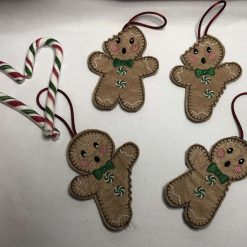 Nibbled Gingerbread Men Christmas Ornaments
