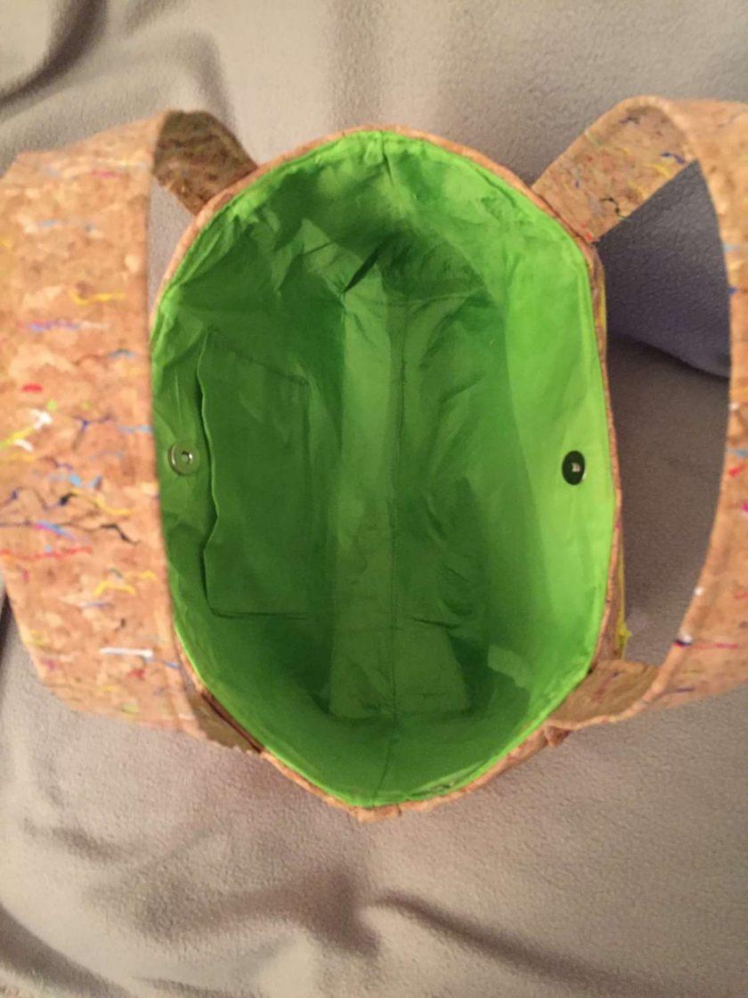Sale: 1 only Rainbow panel cork tote handbag 4