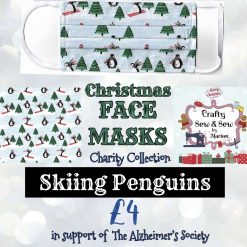 'PPE' Style FACE MASKS 🎄 Christmas CHARITY Collection 🎄 in support of The Alzheimer's Society 🎄 Washable & Reusable (Eco-Friendly) 🎄 Choice of Designs & Sizes 31