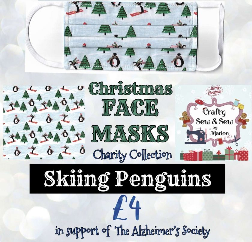 'PPE' Style FACE MASKS 🎄 Christmas CHARITY Collection 🎄 in support of The Alzheimer's Society 🎄 Washable & Reusable (Eco-Friendly) 🎄 Choice of Designs & Sizes 13