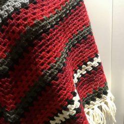 Christmas poncho - 100% wool 10