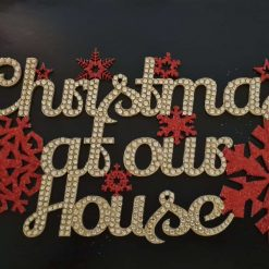 "Crystal hanging "" Christmas at our house "" wall decoration"