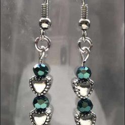 Beaded Heart Earrings (Set 16)