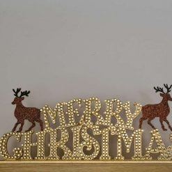 Merry Christmas standing sign with Stags. Ornament