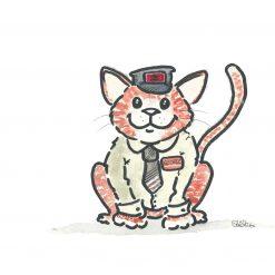 George the Stourbridge Junction Station Cat - print