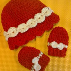 Red Cloche and Mittens