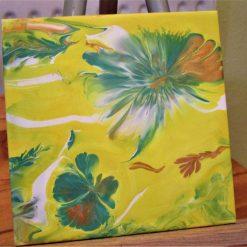"""MELLOW YELLOW"" - Ceramic Tile"