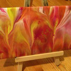 """""""FLAMES""""  -  Ceramic Tile - 'SOLD'"""