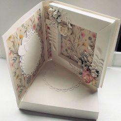 Wedding Roses Shadow Box Card