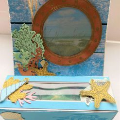 Seaside Theme Tealight Candle Easel Card in a Box