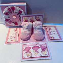 Pink Baby Bootee Exploding Box
