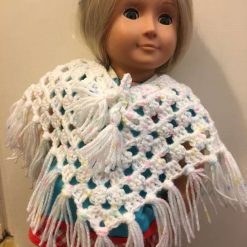 Hand made crochet poncho fit Our Generation, Designafriend Annabell dolls £2.99