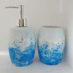 OCEAN SET Hand painted | Dishwasher and Microwave Safe |
