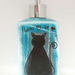 I LOVE MY CAT Hand painted | Dishwasher and Microwave Safe |