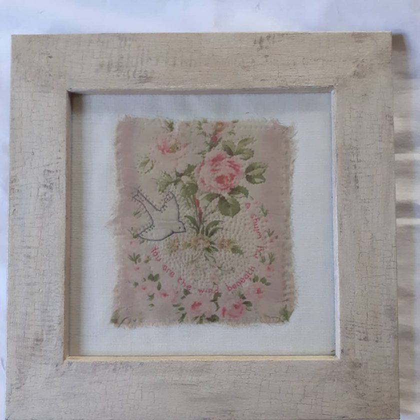 Framed antique textile 1