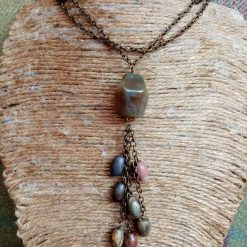 Long Agate And Forest Jasper Necklace 2