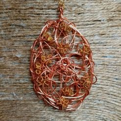 Copper And Gold Colour Twisted Wire Pendant 1