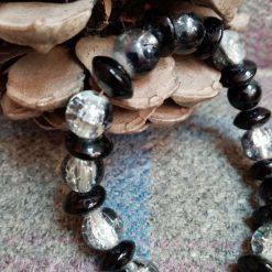 Black And Crackled Bracelet