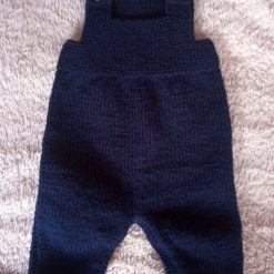 Cute hand knitted baby dungarees