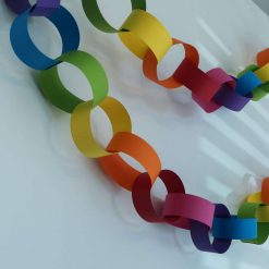 Rainbow Party Paper Chain Kit