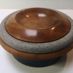 """Iroko 9"""" planetary style bowl 1"""