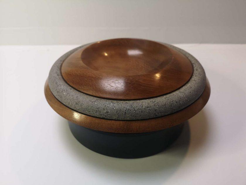 """Iroko 9"""" planetary style bowl"""