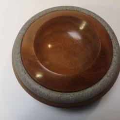 """Iroko 9"""" planetary style bowl 4"""