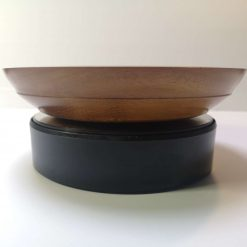 Iroko Bowl with silk flowers 3