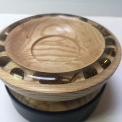 Ash bowl with pine cones and catkins / Candle Holder