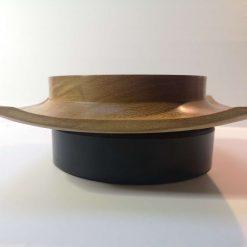 Iroko square round winged bowl 2