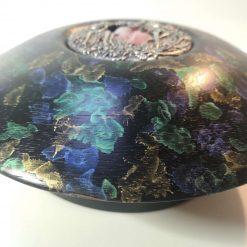 Iroko Faerie bowl Iridescent paint 1