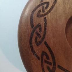 "10"" Celtic knot candle holder 4"