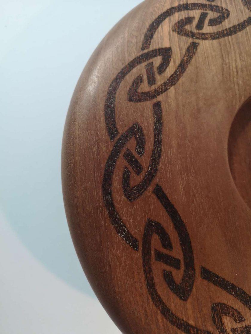 "10"" Celtic knot candle holder"