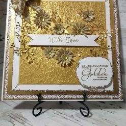 Luxury Handmade 50th Golden Anniversary Card
