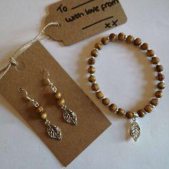 Bracelet and Earring Set - Autumn (sterling silver hooks) **SALE**