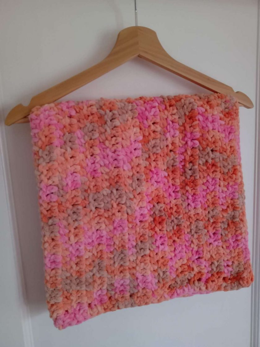 Crochet Baby Blanket - Pink Multi Colour 1