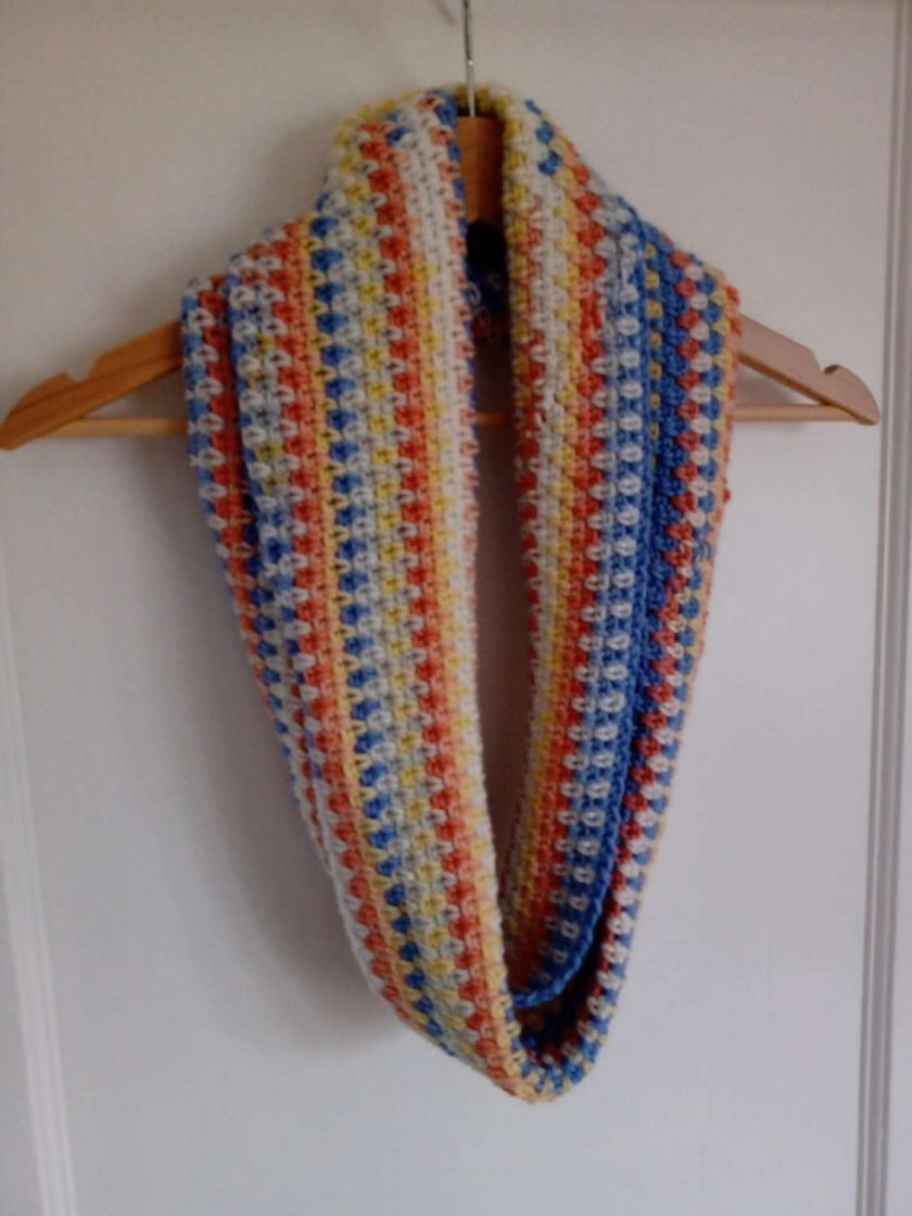 Crochet Cowl - Beach Colours 1