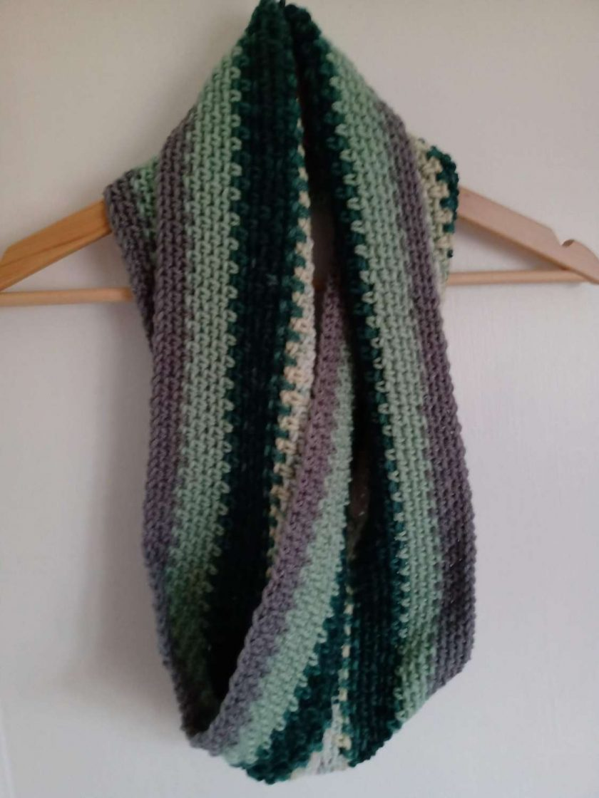 Crochet Cowl Multi - Green 1